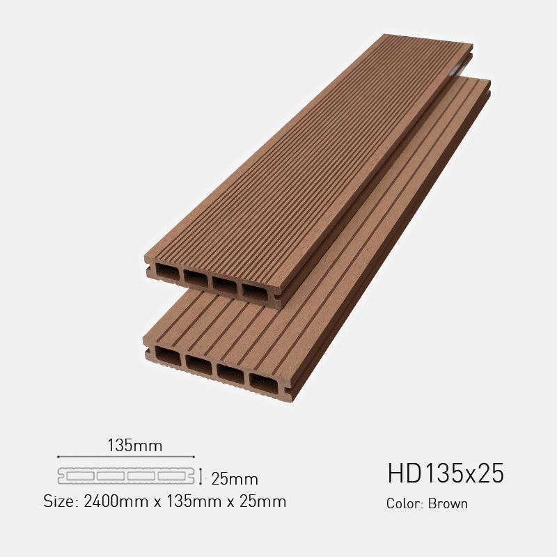 Sàn gỗ ngoài trời Awood -HD135 Socola